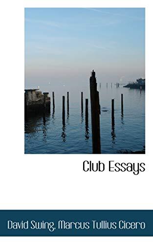 Club-Essays-by-Swing-David-New-9780559250576-Fast-Free-Shipping