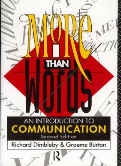 More-Than-Words-Introduction-to-Communication-By-Richard-Dimbl-9780415055826