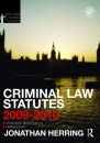 Criminal Law Statutes 2009-2010 (Routledge Student Statutes)