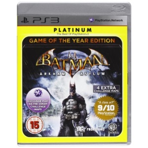 Batman Arkham Asylum Game Of The Year Edition Platinum (Sony PS3)