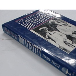 The Diaries of Lord Louis Mountbatten 1920-22: Tours with the Prince of Wales