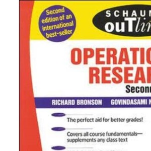 Schaum's Outline of Operations Research (Schaum's Outline Series)