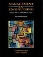 Management in Engineering: Principles and Practice