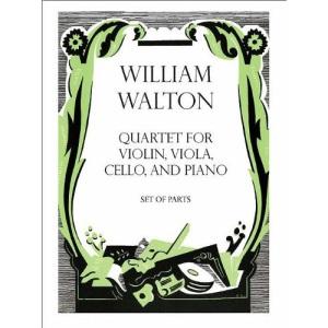 Quartet for Violin, Viola, Cello, and Piano: Set of parts (& score for pianist) (William Walton Edition)