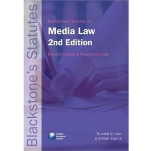 Blackstone's Statutes on Media Law (Blackstone's Statute Book)