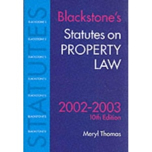 Statutes on Property Law (Blackstone's Statutes)