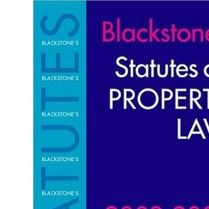 Blackstone's Statutes on Property Law