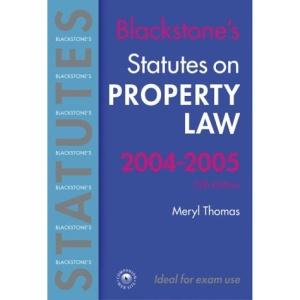 Statutes on Property Law (Blackstone's Statutes S.)