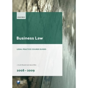 Business Law 2008-2009 (Blackstone Legal Practice Course Guide)