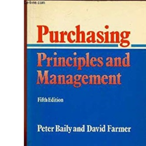 Purchasing Principles and Management