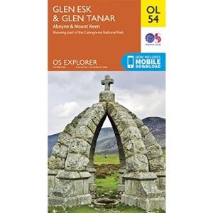 OS Explorer OL54 Glen Esk & Glen Tanar (OS Explorer Map)