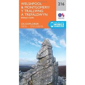 Welshpool & Montgomery / Y Trallwng a Trefaldwyn Map   Bishop's Castle   Ordnance Survey   OS Explorer Map 216   Wales   Walks   Hiking   Maps   Adventure