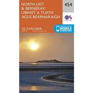 OS Explorer Map (454) North Uist and Berneray/Uibhist a Tuath Agus Bearnaraigh (OS Explorer Paper Map)