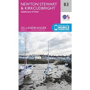 Landranger (83) Newton Stewart & Kirkcudbright, Gatehouse of Fleet (OS Landranger Map)