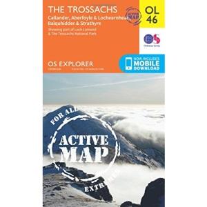 The Trossachs Map   Weatherproof   Callander, Aberfoyle & Lochearnhead, Balquhidder & Strathyre   Ordnance Survey   OS Explorer Active Map OL46   ...   Maps   Adventure (OS Explorer Map Active)