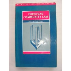 European Community Law (Palgrave Professional Masters)
