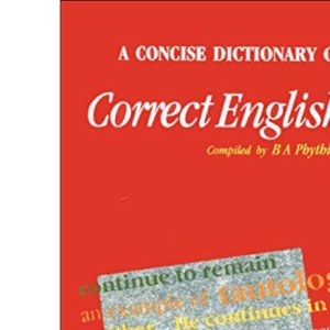 A Concise Dictionary of Correct English