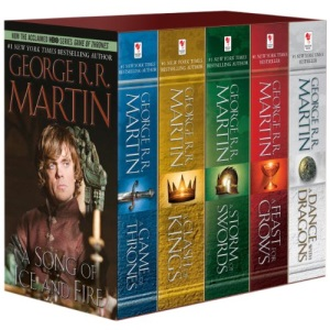 George R. R. Martin's a Game of Thrones 5-Book Boxed Set (Song of Ice and Fire Series): A Game of Thrones, a Clash of Kings, a Storm of Swords, a ... A Feast for Crows, and A Dance with Dragons