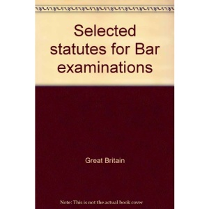 Selected statutes for Bar examinations