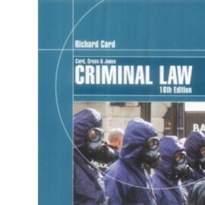 Card, Cross and Jones: Criminal Law