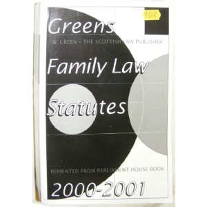 Green's Family Law Statutes 2000 (Parliament House Book Reprints)