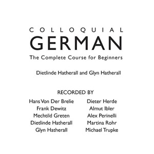 Colloquial German (Colloquial) (CD)