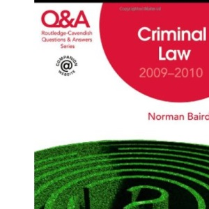Q&A Criminal Law 2009-2010 (Questions and Answers)
