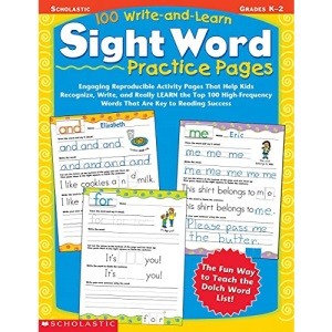 100 Write-And-Learn Sight Word Practice Pages...
