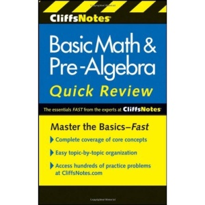 CliffsNotes Basic Math & Pre-algebra Quick Review (Cliffs Quick Review)
