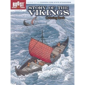 Story of the Vikings Colouring Book