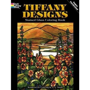 Tiffany Designs: Stained Glass Colouring Book (Dover Pictorial Archive)