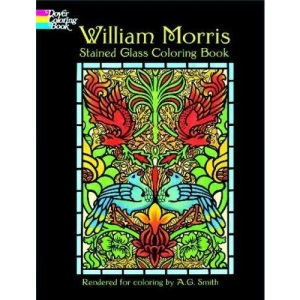 William Morris Stained Glass Colouring Book (Dover Pictorial Archives)