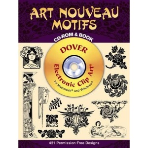 Art Noveau Motifs - CD-Rom and Book (Dover Pictorial Archives)