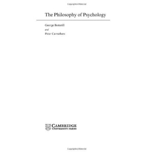 The Philosophy of Psychology