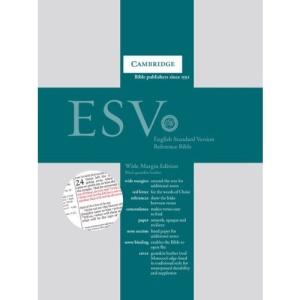 ESV Wide Margin Reference Edition ES746:XRM black goatskin leather