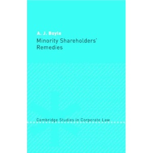 Minority Shareholders' Remedies (Cambridge Studies in Corporate Law)