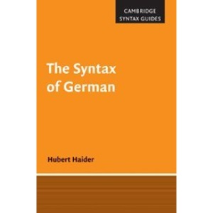 The Syntax of German (Cambridge Syntax Guides)