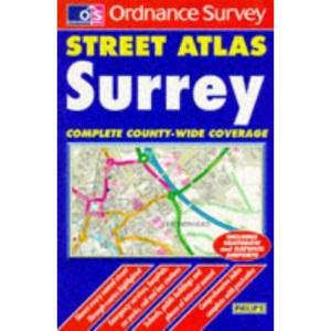 OS/ Philip's Street Atlas: Surrey - Pocket edition