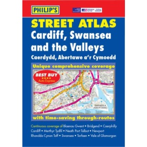 Philip's Street Atlas Cardiff, Swansea and the Valleys: Pocket (Philip's Street Atlases)