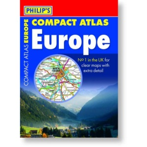 Philip's Compact Atlas Europe (Road Atlases)