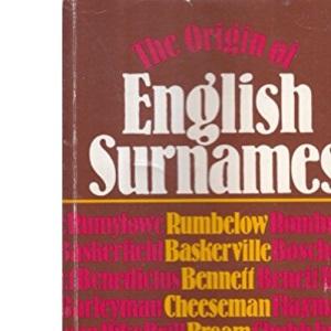 Origin of English Surnames