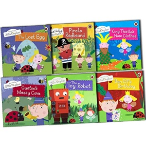 Ben & Hollys Little Kingdom 6 Books Collection Pack (The Lost Egg, Gaston''s Messy Cave, The Toy Robot, Ben Elfs Birthday, King Thistles New Clothes, Pirate Redbeard Story Books)