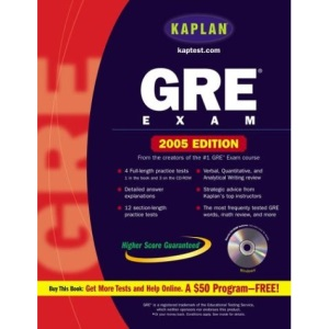 Kaplan GRE Exam 2005 with CDROM (Kaplan GRE Premier Program (W/CD))