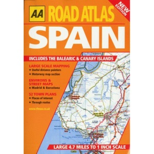 Road Atlas Spain and Portugal (AA Atlases)