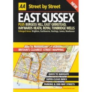 AA Street by Street Sussex, East