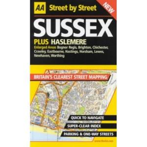 AA Street by Street Sussex