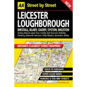 AA Street by Street Atlas Leicester, Loughborough