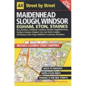 AA Street by Street Maidenhead, Slough, Windsor