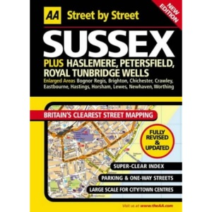AA Street by Street Sussex: Maxi