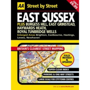 AA Street by Street East Sussex: Midi Local